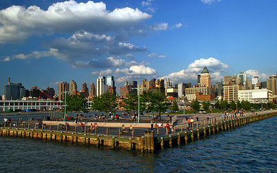 Park on a converted Hudson River Pier, Manhattan-