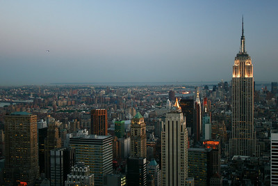 Manhattan and Brooklyn at dusk-