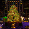 The Christmas tree at Rockerfeller Plaza, New York City..  7th January, 2016 Photo by: Stephen Hindley©