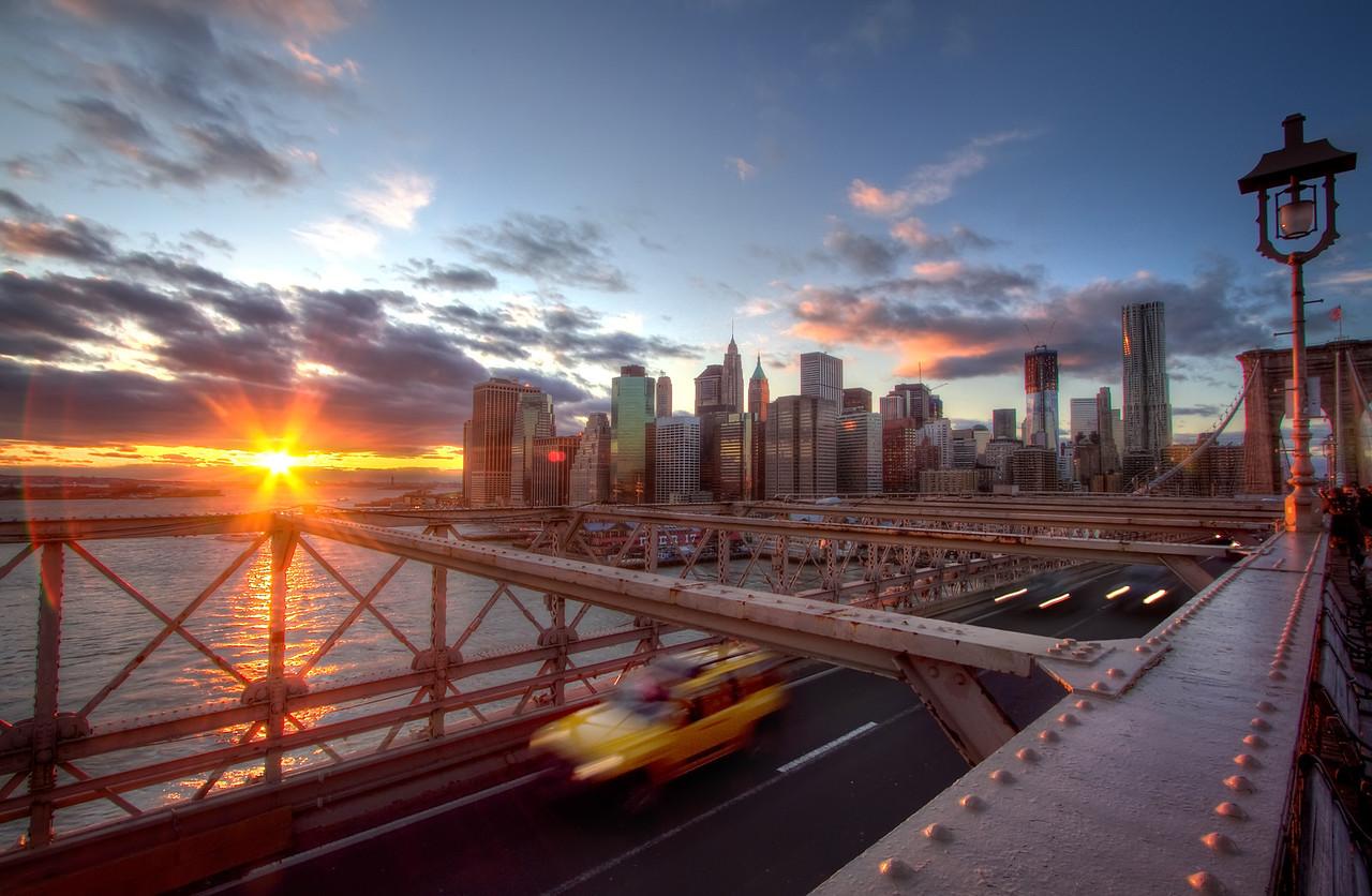 Sunset View from Brooklyn Bridge