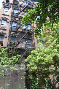 Fire escapes in the west village .  This Image is © Tricia Chatterton Goldrick/Chattergold Studios.  All Rights Reserved.  No duplication without permission (see commercial downloads).  This image may be purchased from this website for blogging purposes only.