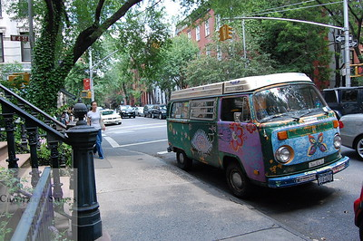 Volkswagon Bus in the West Village .  This Image is © Tricia Chatterton Goldrick/Chattergold Studios.  All Rights Reserved.  No duplication without permission (see commercial downloads).  This image may be purchased from this website for blogging purposes only.