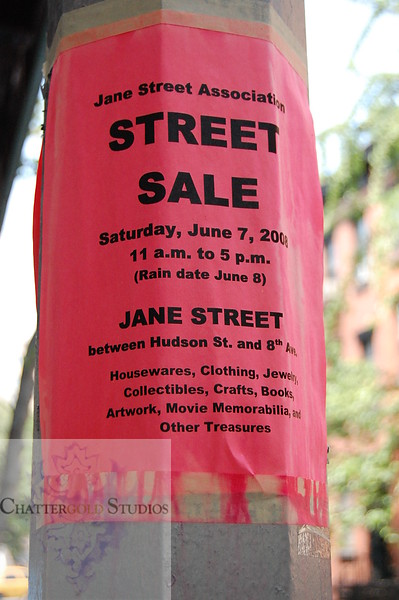 Street Sale Flyer .  This Image is © Tricia Chatterton Goldrick/Chattergold Studios.  All Rights Reserved.  No duplication without permission (see commercial downloads).  This image may be purchased from this website for blogging purposes only.