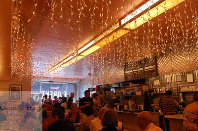 Last visit to Florent, old landmark restaurant in New York City .  This Image is © Tricia Chatterton Goldrick/Chattergold Studios.  All Rights Reserved.  No duplication without permission (see commercial downloads).  This image may be purchased from this website for blogging purposes only.