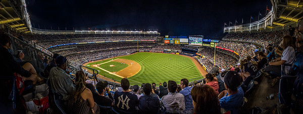 A packed out crowd in New York's Yankee Stadium as the Yankees defeat the Baltimore Orioles 5-3.  20th June, 2014.  Photo by: Stephen Hindley©