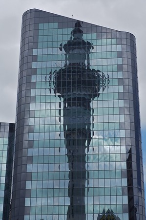 Sky Tower Reflection. Auckland, New Zealand