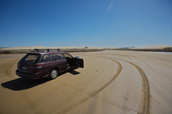 It was fun driving around the river bed and hard to do donuts with 4wd.