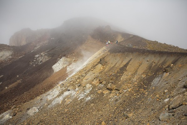 The weather further up the trail was deteriorating quickly.