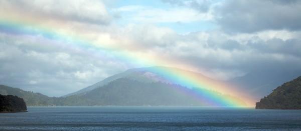 Rainbow Over the Sound.