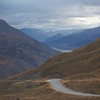 Road to Queenstown via Cadrona Valley.