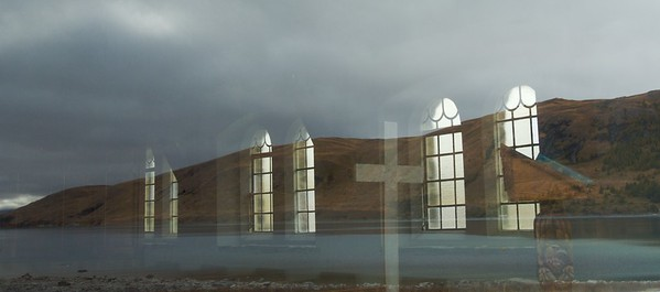 Window Reflection, Church of the Good Shepard.