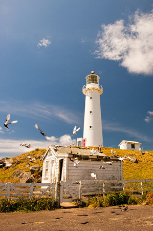 Old lighthouse near Taranaki, New Zealand