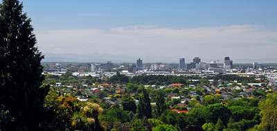 Christchurch skyline from Cashmere, New Zealand