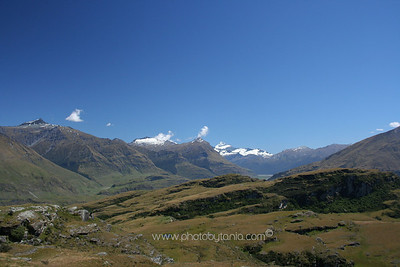 Looking out towards Mt Aspiring National Park from Rocky Hill, Wanaka, New Zealand