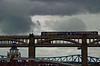 Train crossing Tyne on High Level Bridge