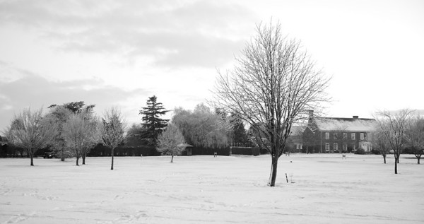 Newton Green in Suffolk, taken on 8th January 2010 after the snow