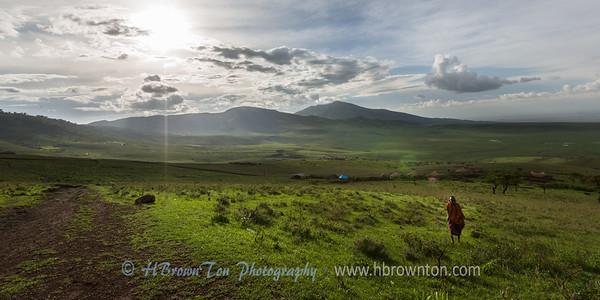 Maasai boy running up to say hello