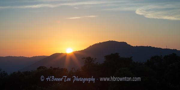 Sunrise over the Ngorongoro Crater Rim