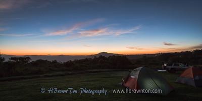 Pre-dawn glow on Ngorongoro Crater Simba Campsite