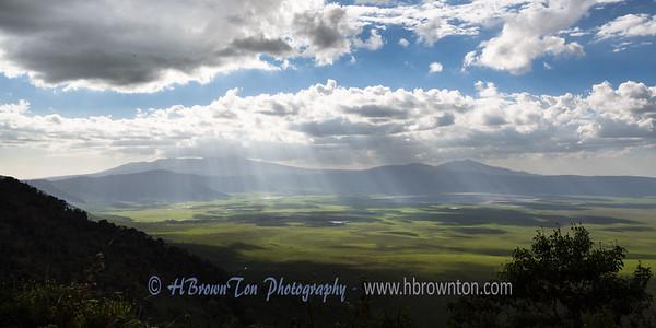 Rays of light over Ngorongoro Crater