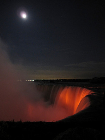 Niagara in the Moonlight,  handheld, Canon Powershot SD960