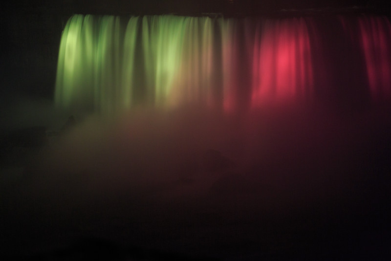 Niagara Falls - Horseshoe Falls at Night