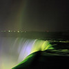 Niagara Falls - Spooky Horseshoe Falls at Night - hint of rainbow