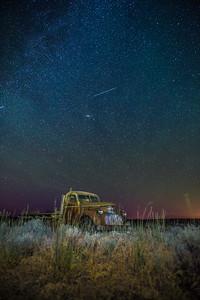 Farmland at Night , Wilbur, Washington