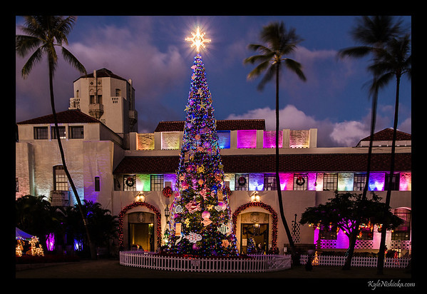 Honolulu Hale Christmas Lights