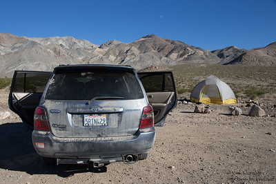 Our camp at the Racetrack Playa campground - Death Valley National Park, CA, USA