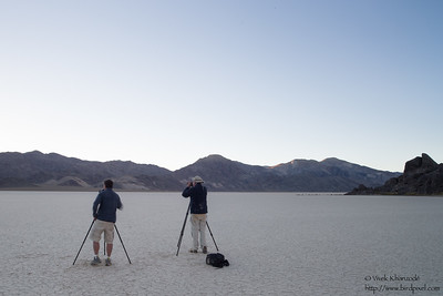 Larry & John photographing at the Racetrack Playa - Death Valley National Park, CA, USA