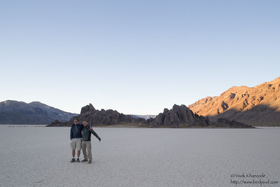 Larry & Vivek at the Racetrack Playa - Death Valley National Park, CA, USA