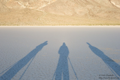 Shadows - Racetrack Playa - Death Valley National Park, CA, USA