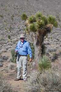 John with the Joshua Tree - Near Big Pine, CA, USA