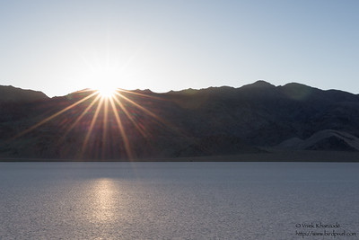 Sunrise at the Racetrack Playa - Death Valley National Park, CA, USA