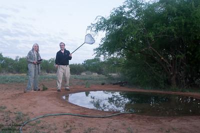 Ruth Hoyt & Steve Z. at one the blinds at Laguna Seca Ranch - Edinburg, TX, USA