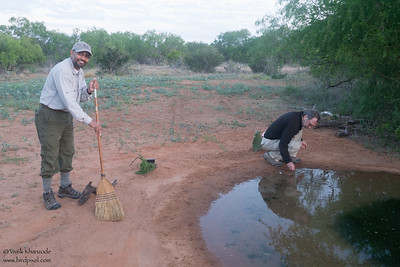 Cleaning the pond and water at the Laguna Seca Ranch - Edinburg, TX, USA