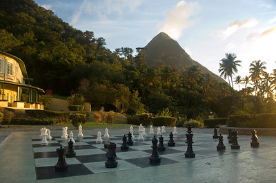 Giant chessboard at Jalousie