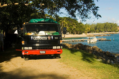 They're mad for Guinness on St Lucia...although they don't seem to realise it comes from Ireland!