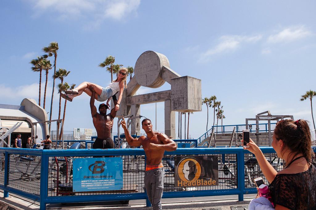 Muscles at Muscle Beach, Venice Beach