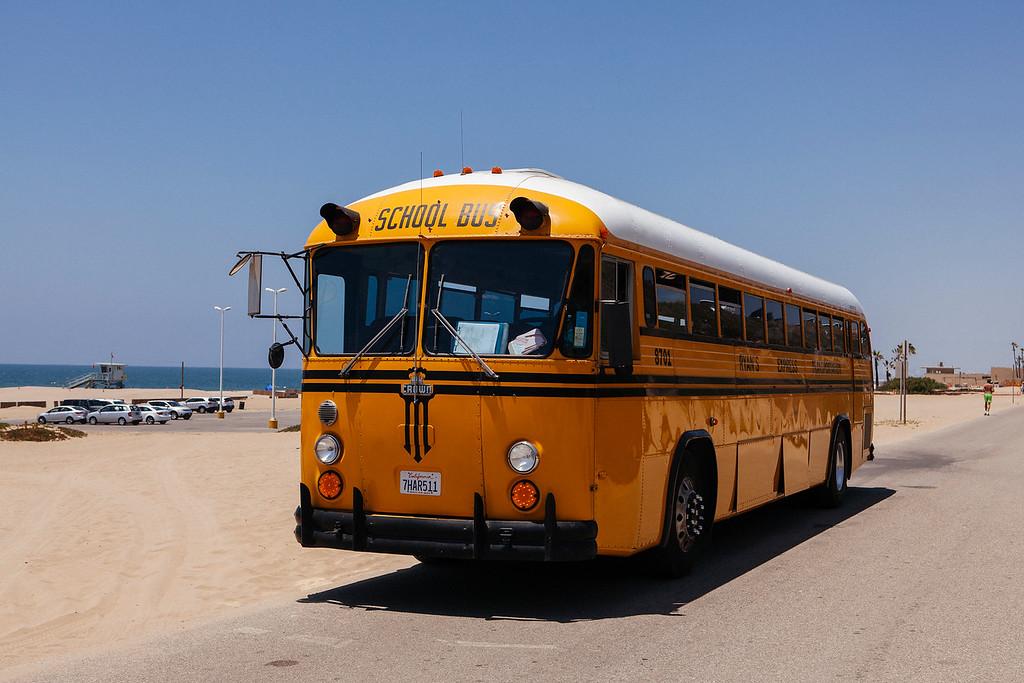 School Bus, Dockweiler Beach