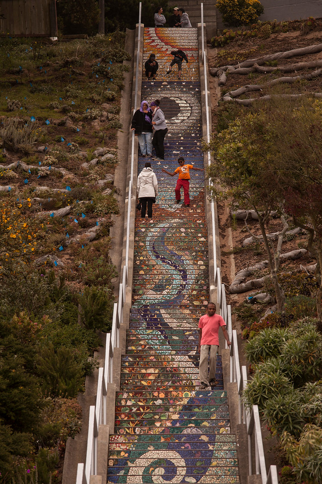 16th Avenue Tiled Steps, Grand View Park, San Francisco