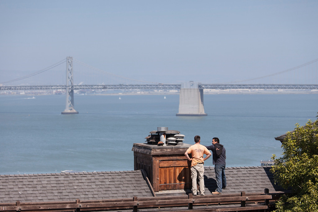 Men on a Hot Felt Roof, San Francisco
