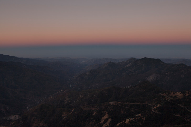 Predawn Colours over Kaweah River, Sequoia National Park