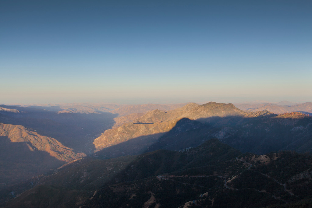 Sunrise Shadows Over Ash Mountain, Sequoia National Park