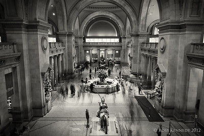 Lobby in the Metropolitan Museum of Art