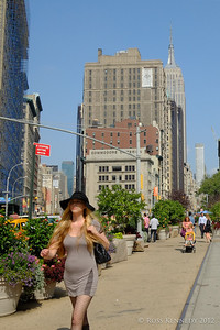 Flatiron district - Empire State is in the background