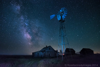 Derelect Farm near Kent Under the Milky Way