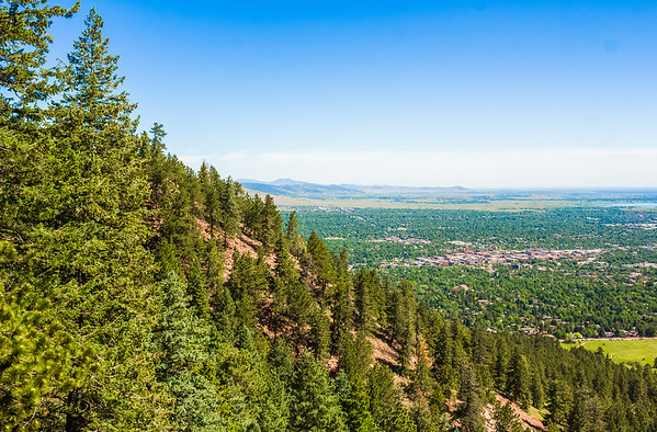 Boulder, Colorado from the Flatirons