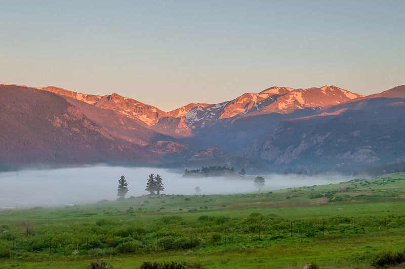 Moraine Park Sunrise from Bear Lake Road - Rocky Mountain National Park.